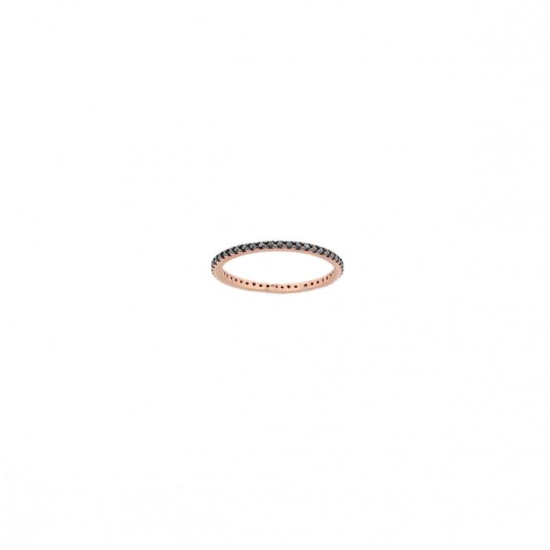 9ct ROSE GOLD CZ RING RINGS