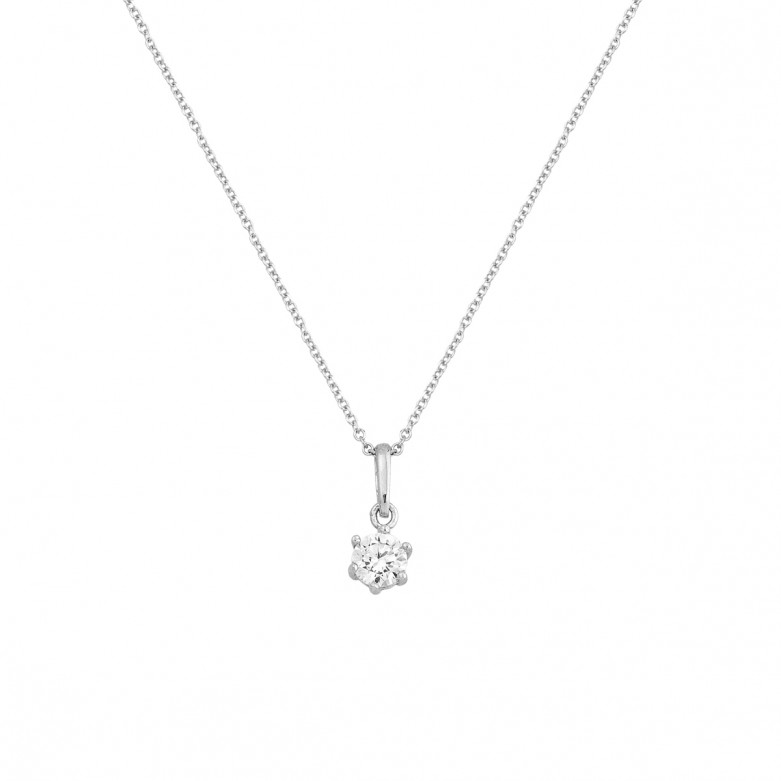 Gold 9ct. Solitaire necklace