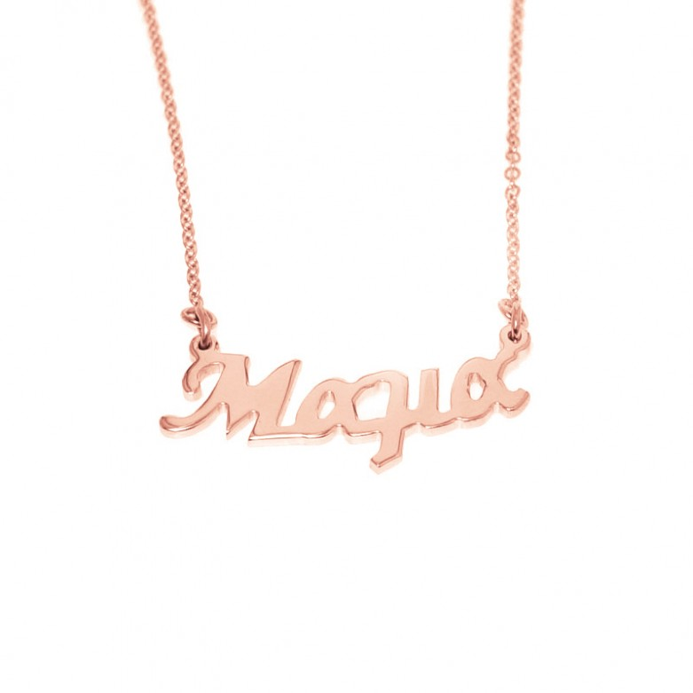 Sterling silver 925°.  Μαμά necklace on chain