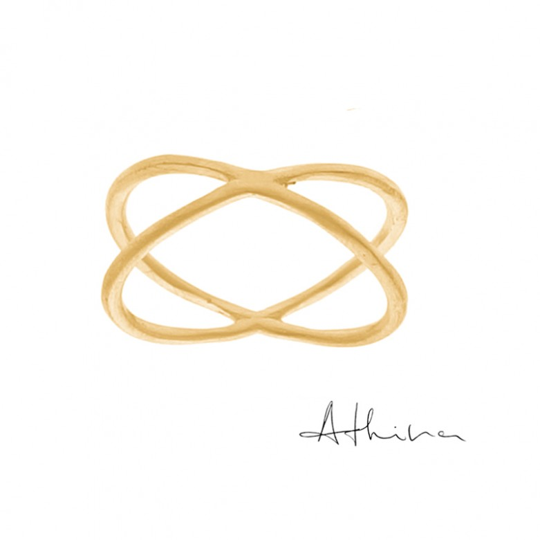 9kt Gold. Crossover band