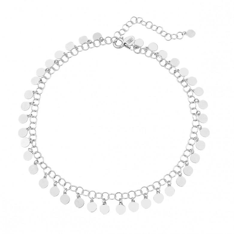 Sterling silver 925°.  Multi- disc ankle bracelet