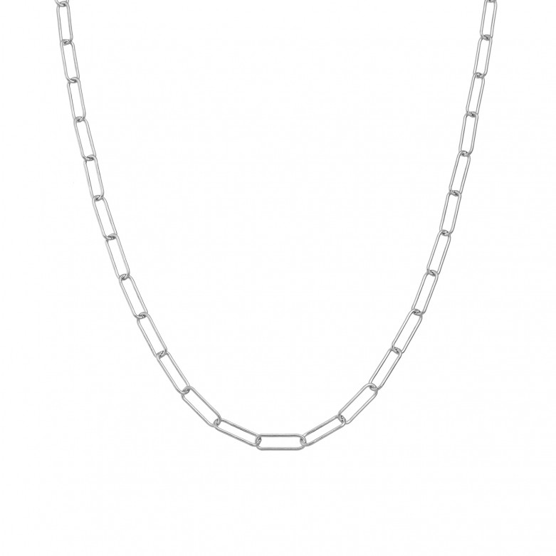 Sterling silver 925°. Long links chain necklace