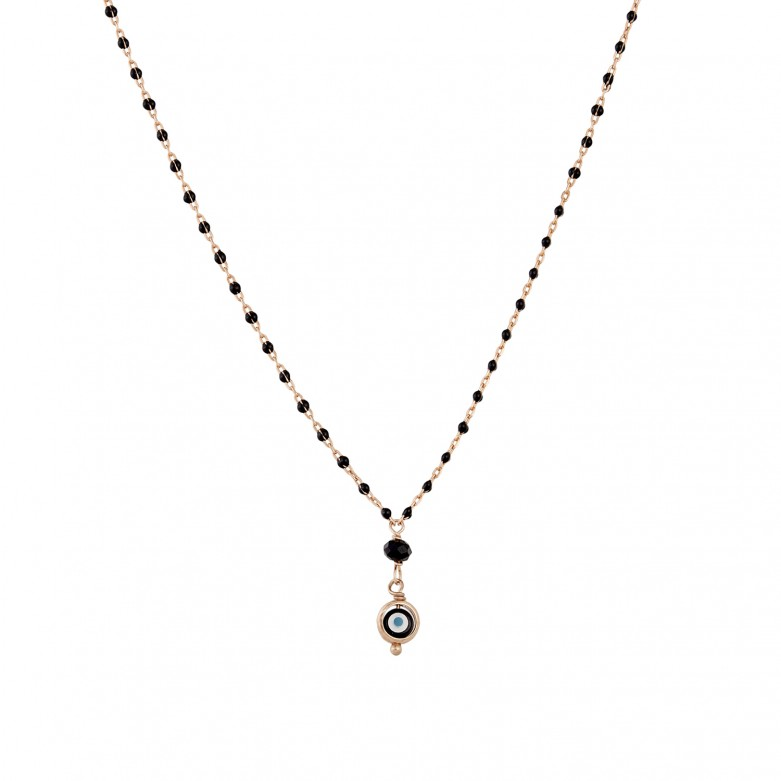 Sterling silver 925°. Rosary necklace with mati & beads
