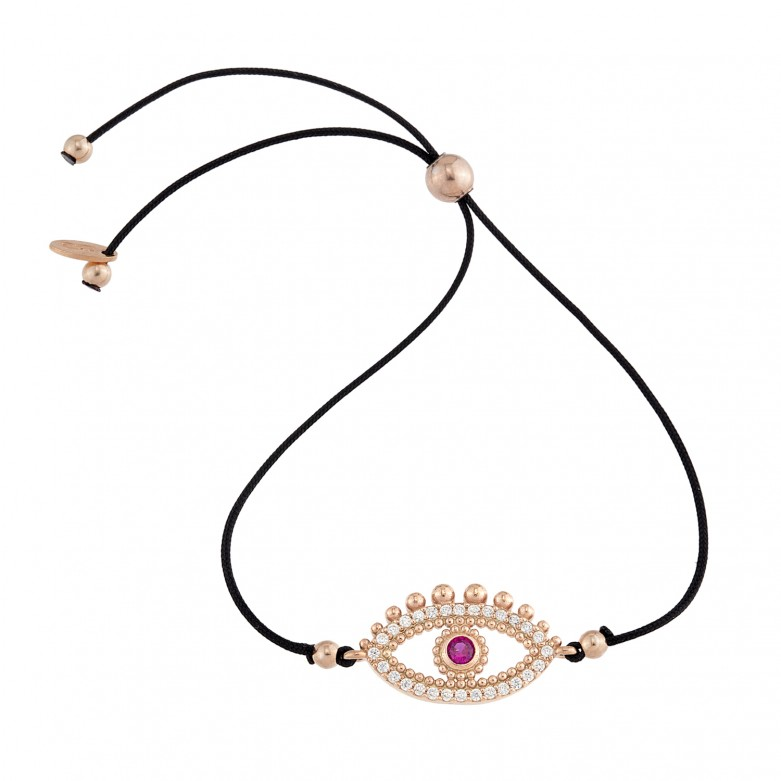 Sterling silver 925°. Oriental mati on cord