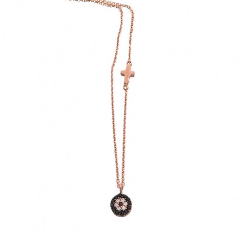 9ct ROSE GOLD CZ NECKLACE NECKLACE