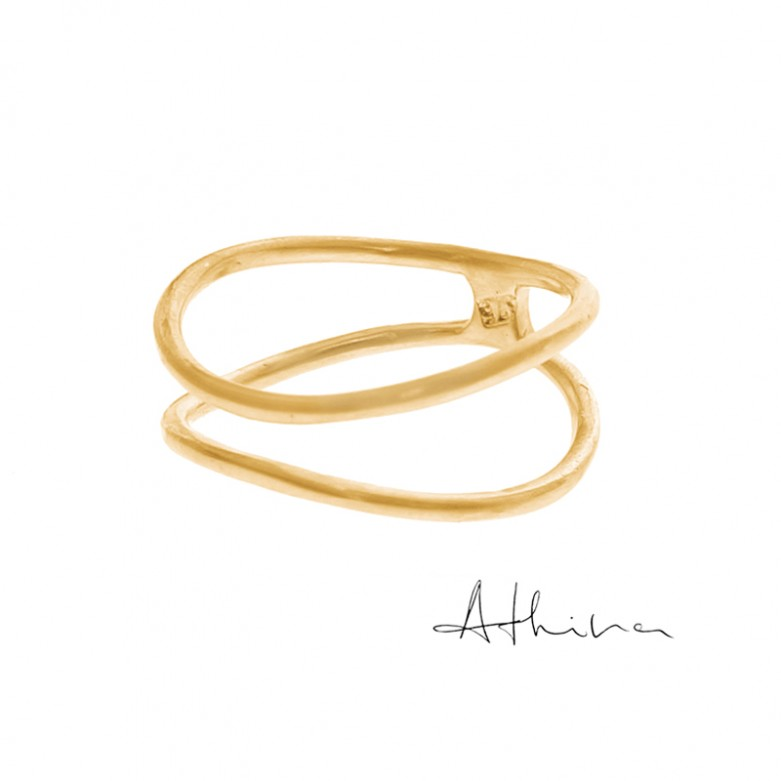9kt Gold. Double open band 9ct gold