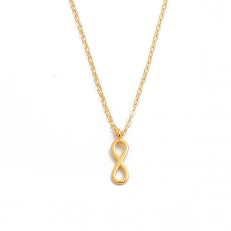 Sterling silver 925°. Infinity on chain