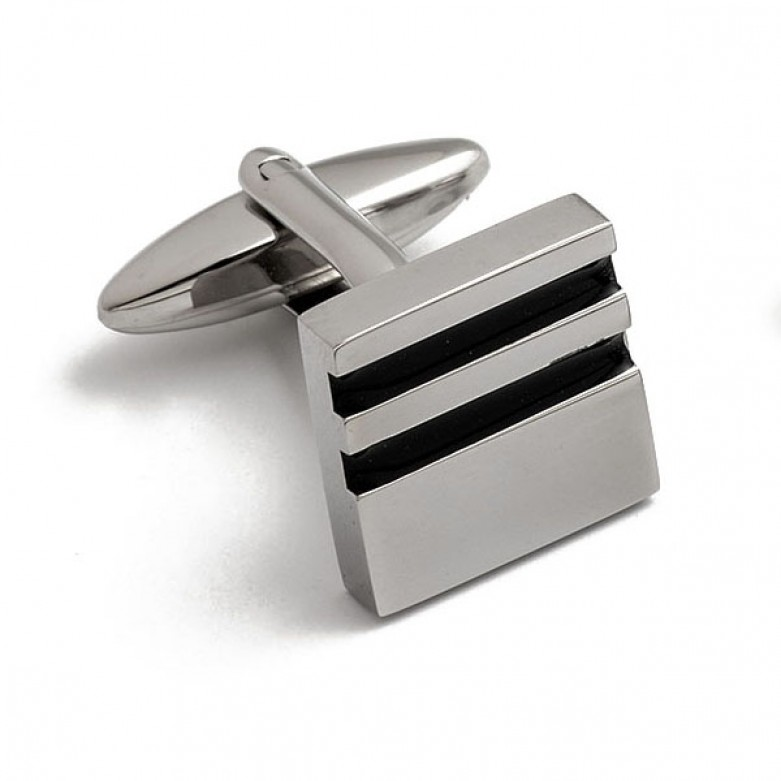 Square stainless steel cufflinks
