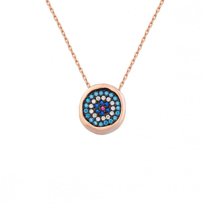 Sterling silver 925°.  Round Mati pendant