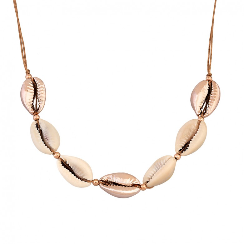 Seven cowrie shell necklace