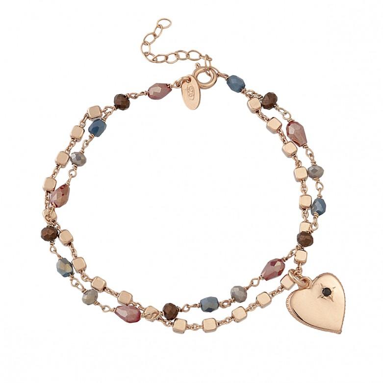 Sterling silver 925°. Rosary style bracelet
