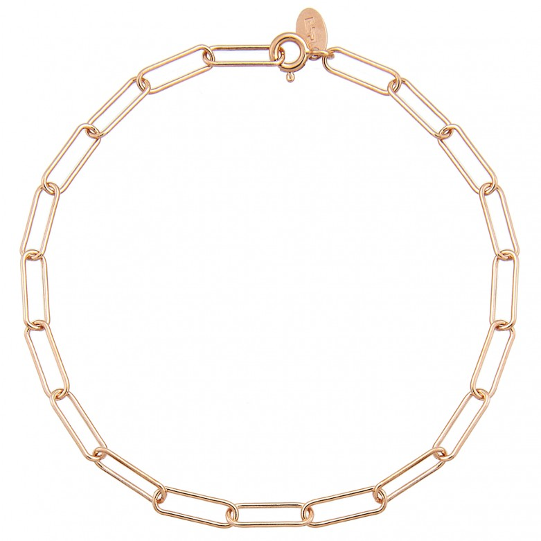 Sterling silver 925°. Long links chain bracelet