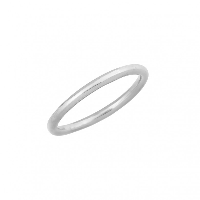 Δαχτυλίδι βέρα απλή από επιπλατινωμένο ασήμι 925.