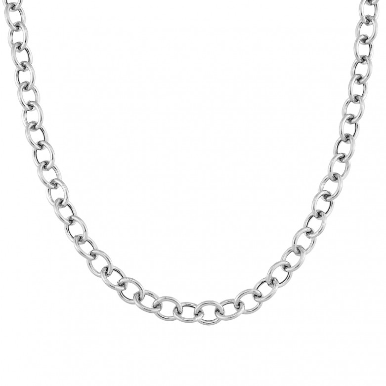 Sterling silver 925°. Large links necklace