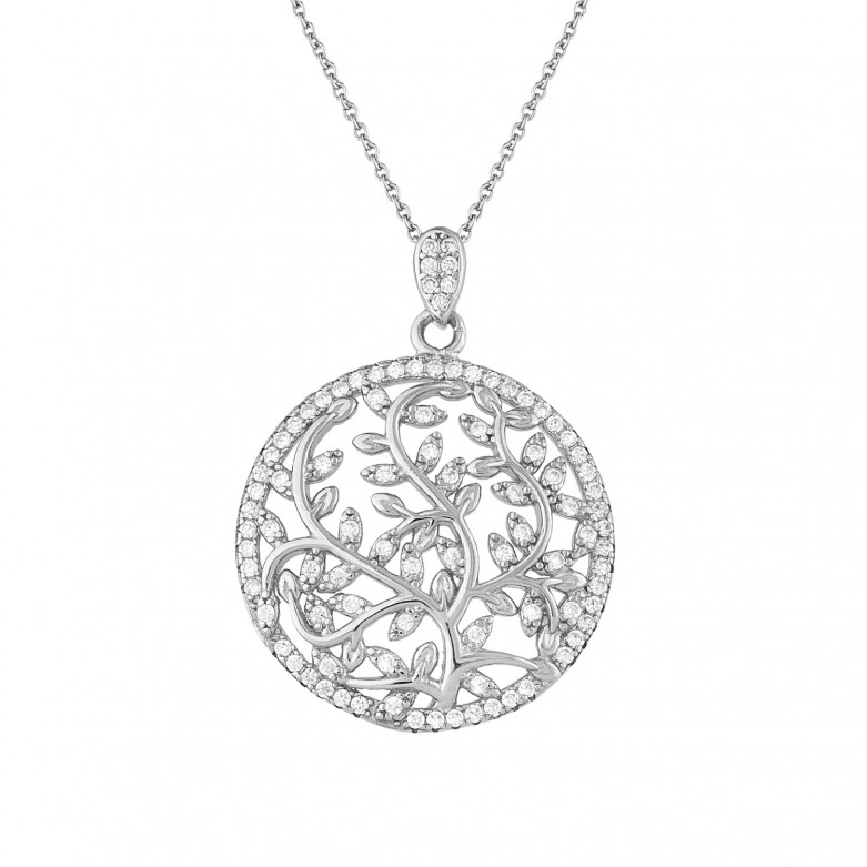 Sterling silver 925°. Tree of Life pendant necklace